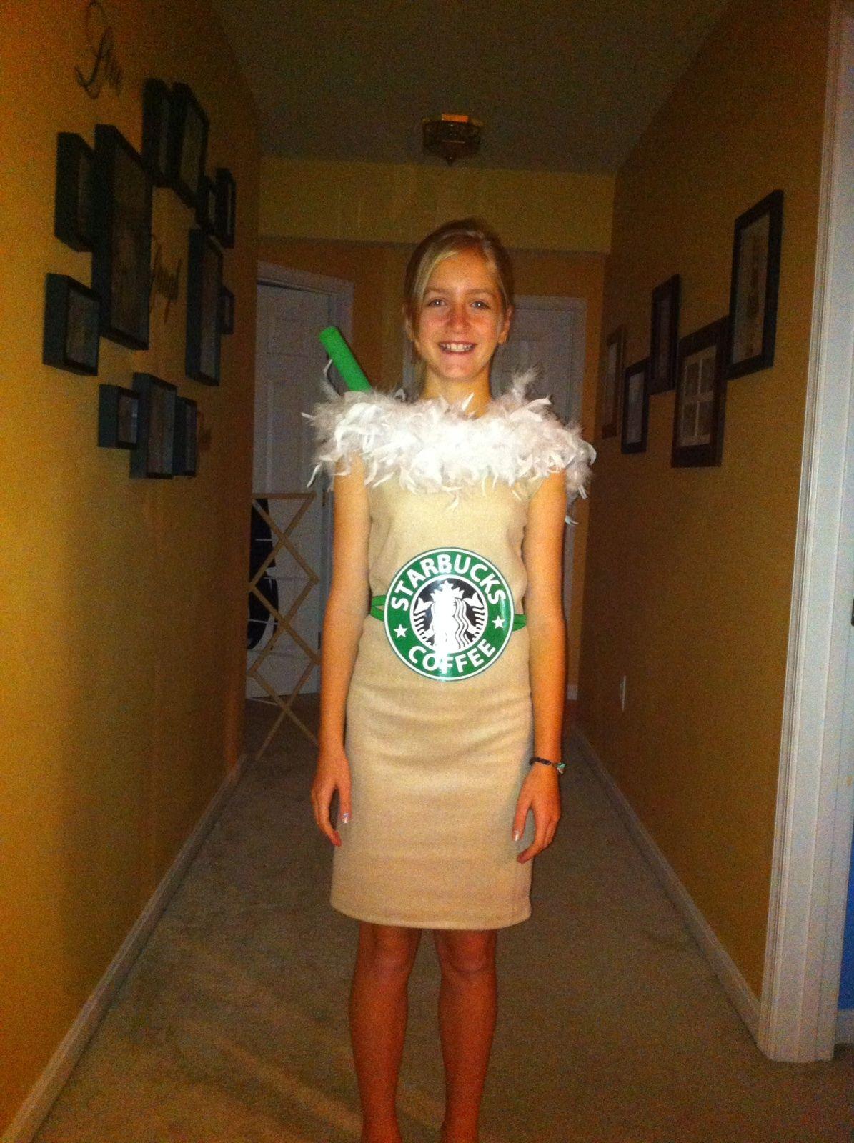 Diy Starbuck S Frappuccino Costume Halloween Starbucks