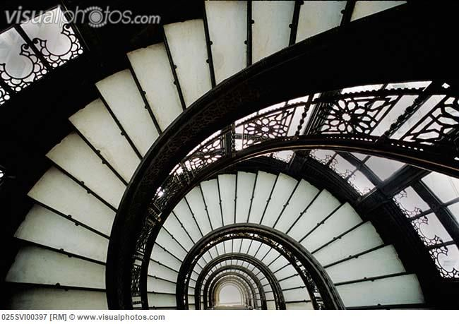 Beau Spiral Staircase, The Rookery, Chicago
