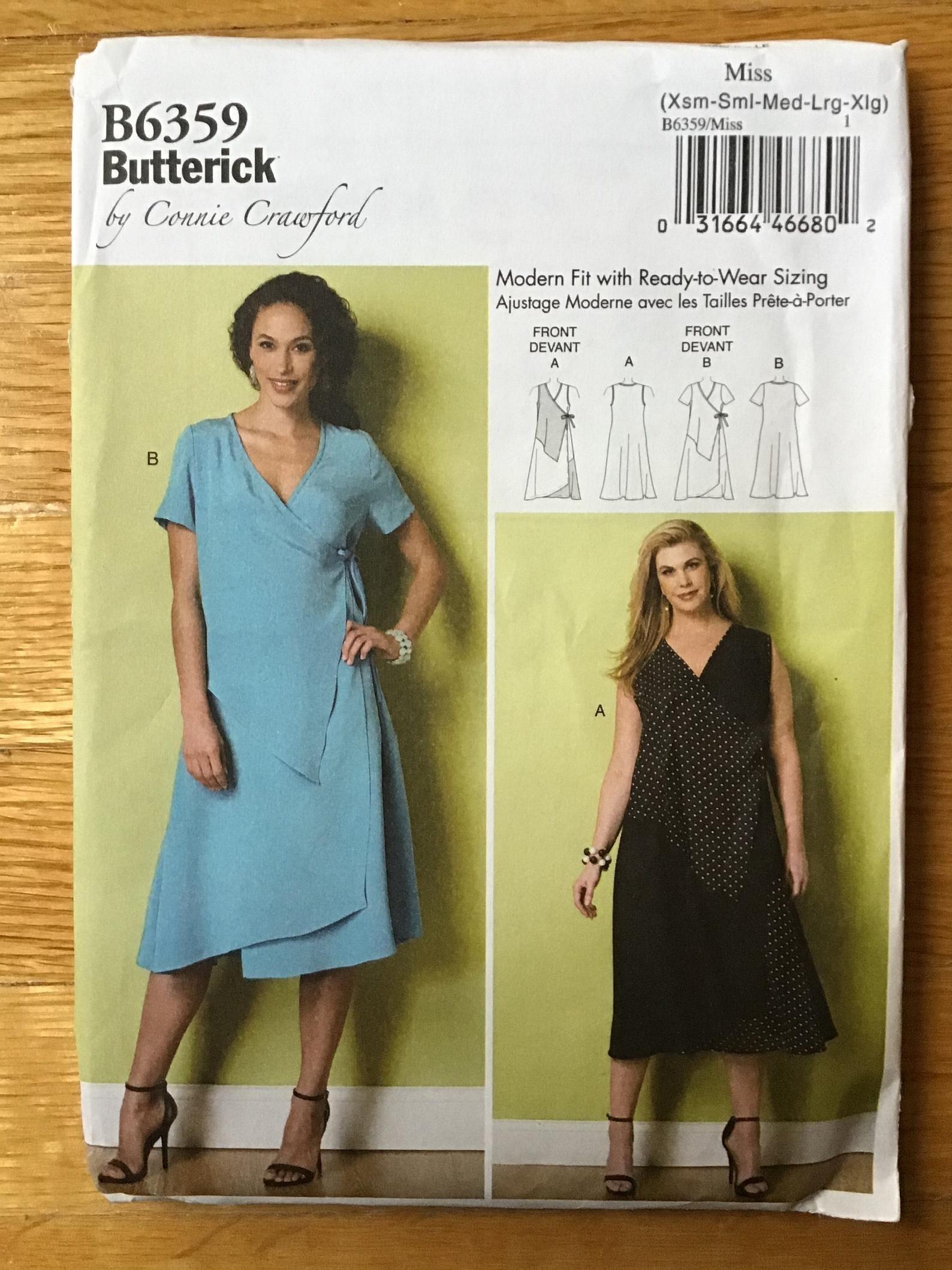 Misses Wrap Dress Pattern Butterick 6359 Xs S M L Xl Uncut Etsy Butterick Dress Patterns Wrap Dress Pattern Womens Wrap Dress [ 2117 x 1588 Pixel ]