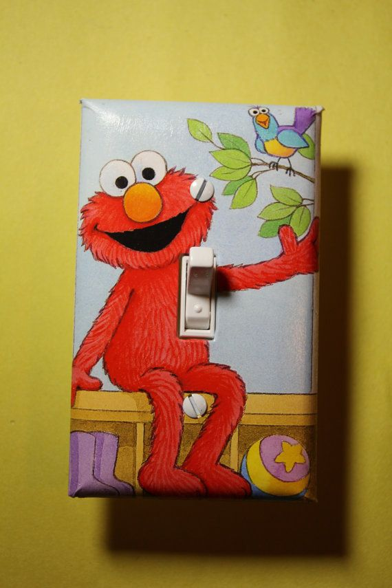 Sesame Street Elmo Light Switch Plate Cover Kids By Comicrecycled