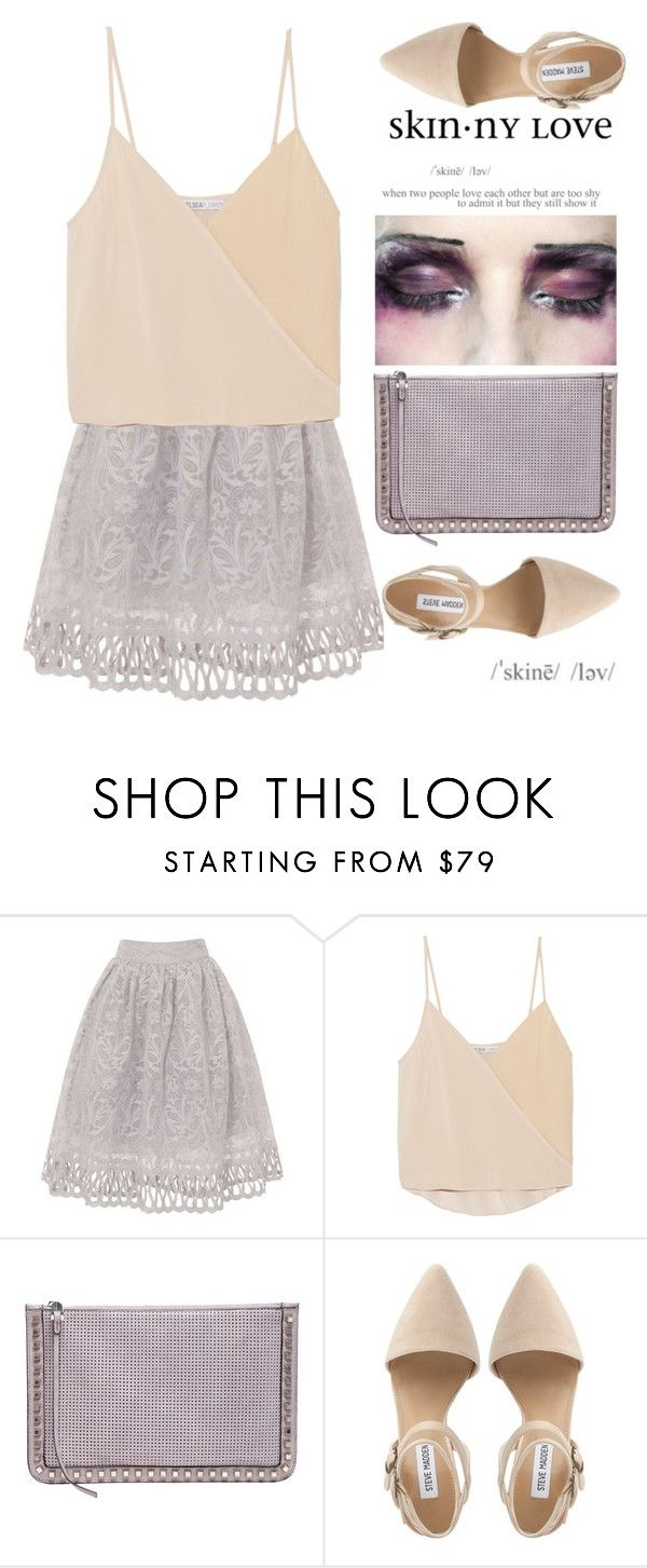 """""""skinny love"""" by dazedandconfused ❤ liked on Polyvore featuring Chi Chi, Chelsea Flower, John Galliano, She + Lo, Steve Madden, skirt, Clutch, lace and fashionset"""
