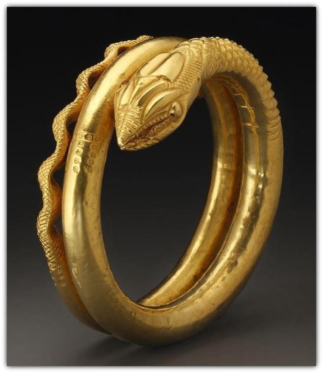 Snake Armlet. Gold. Egypt, Roman Period - 1st cent. A.D.