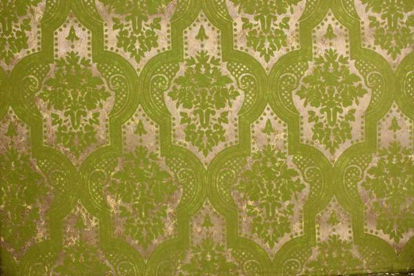 Green Flocked Damask On Gold Vintage Wallpaper Olive Green Wallpaper Vintage Wallpaper Gold Damask Wallpaper Green white gold wallpaper stripes