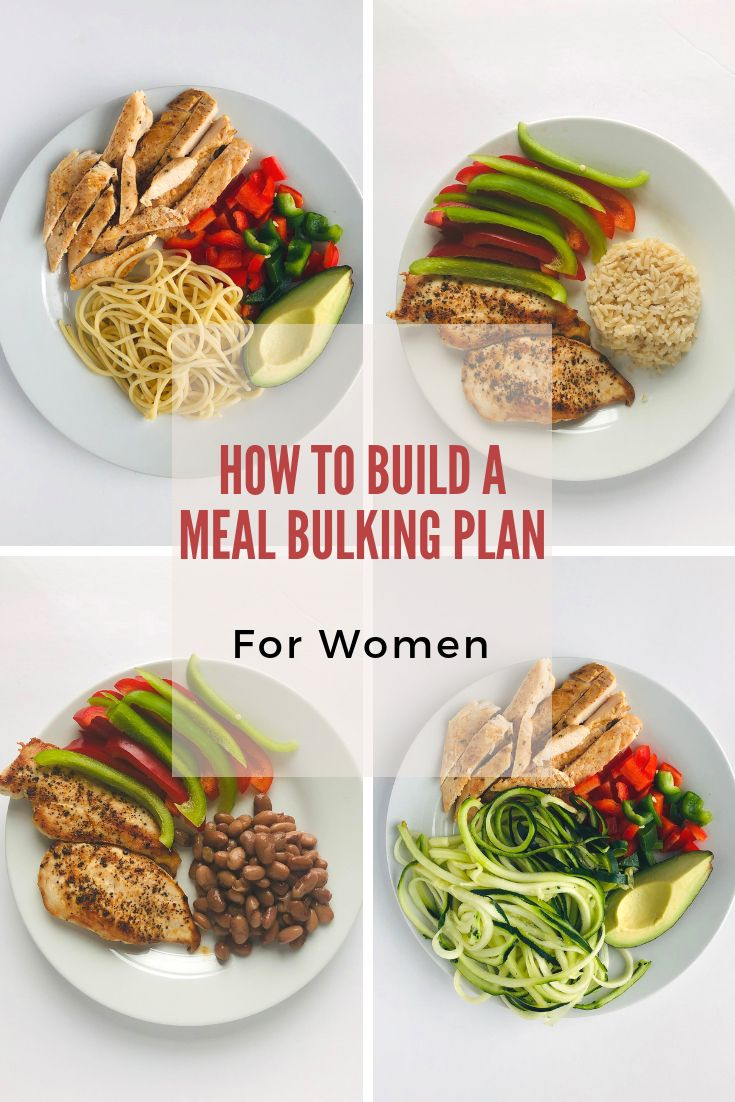 The Perfect Guide To Help You Build A Bulking Meal Plan For Women Bulking Meal Plan Food To Gain Muscle Bulking Meals