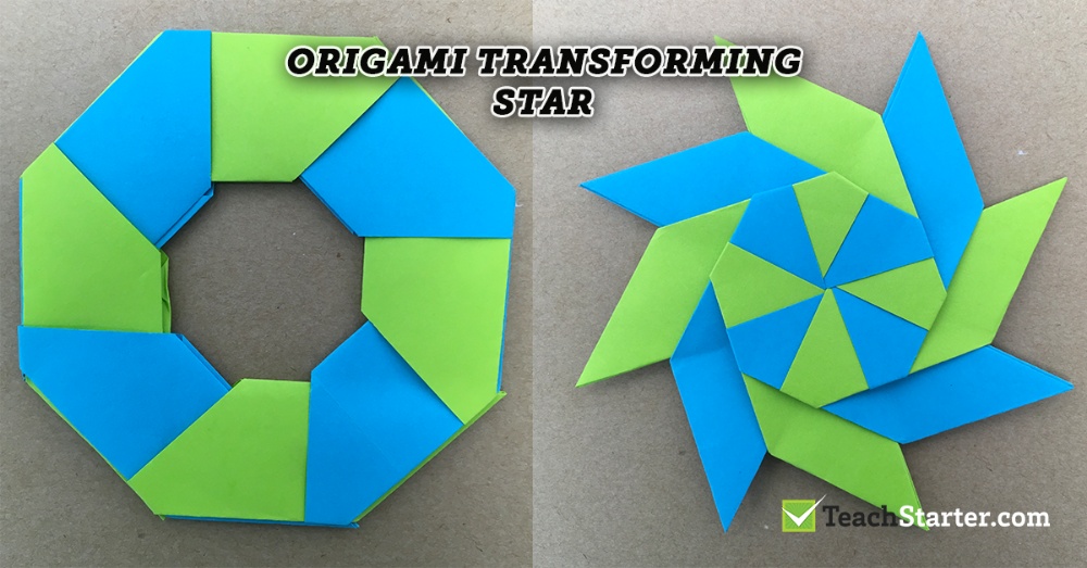 Origami Transforming Star Using Sticky Notes Sticky Note Origami