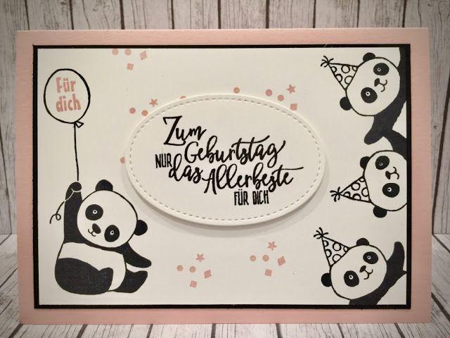 stempeln macht glücklich: Die Pandas sind los!!!!!! Stampin up, Panda, pandabären, perfekter Geburtstag, sab2018, saleabration, Glückwunsch #stampinupcatalog