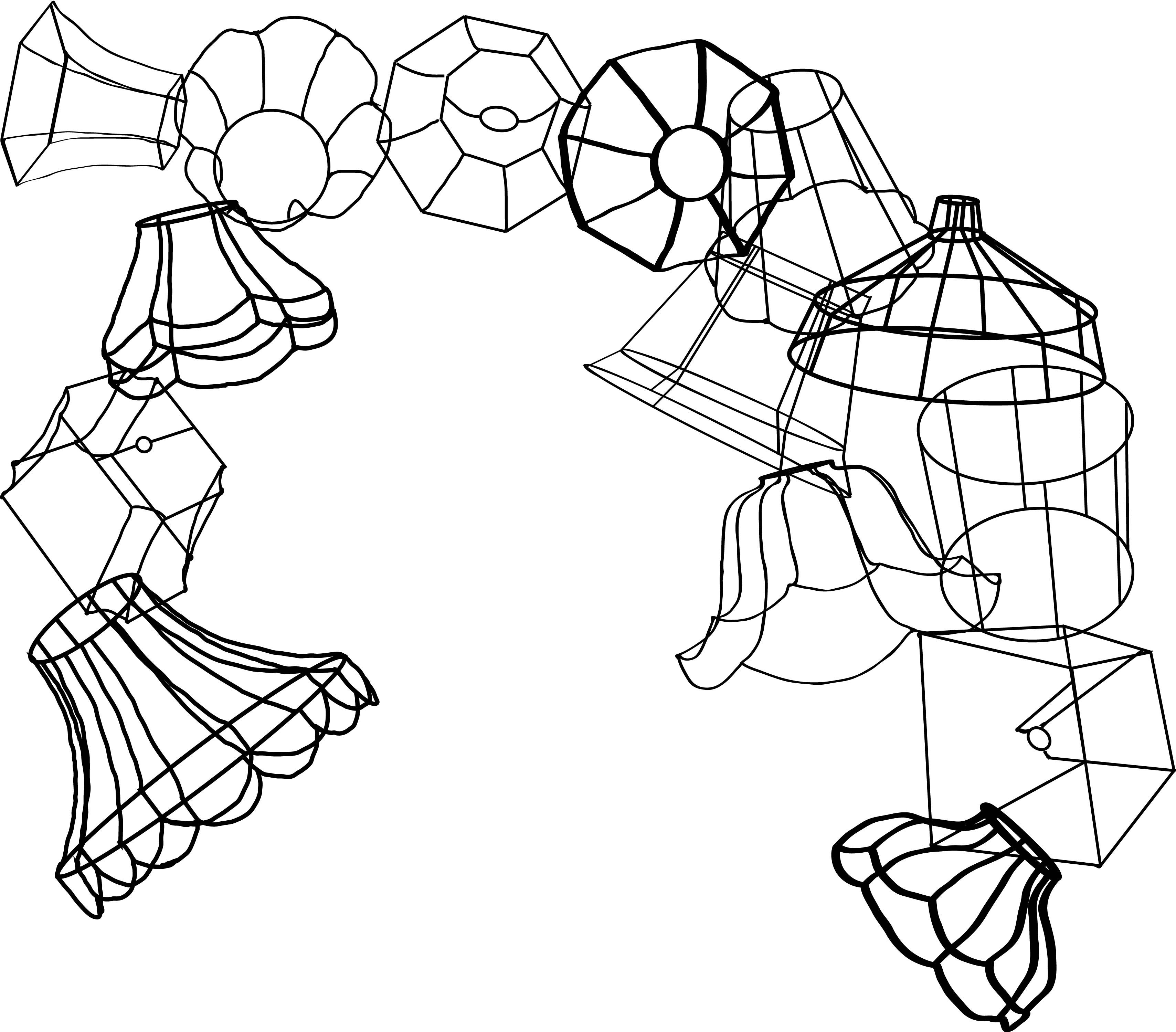 wire lamp shade illustration for a branding brief