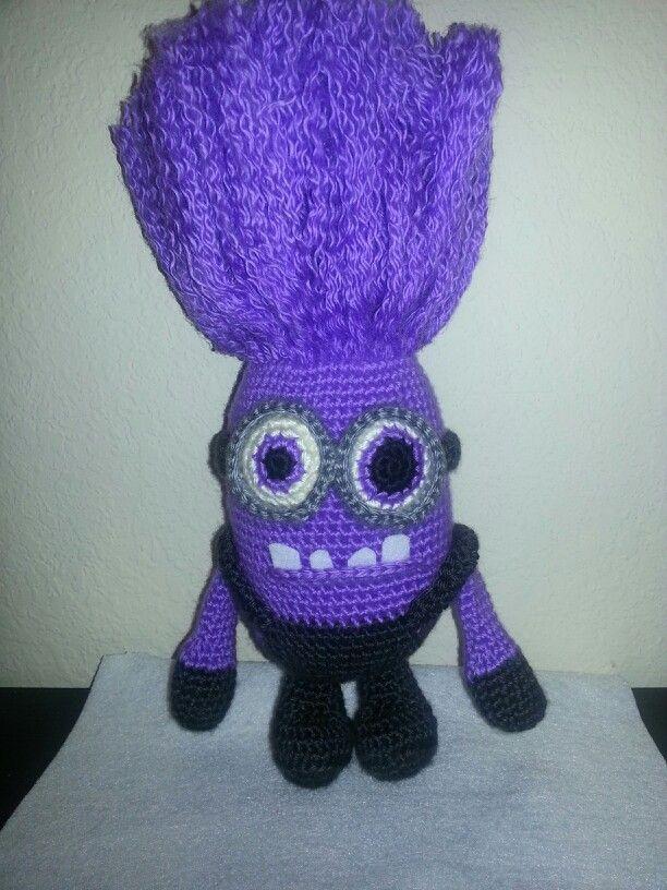 Crocheted purple minion | Crochet Minions | Pinterest