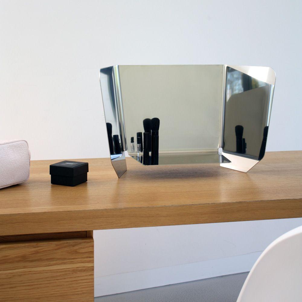 Modern dressing table mirrors dorian spiegel van gepolijst staal martin mirth voor pulpo