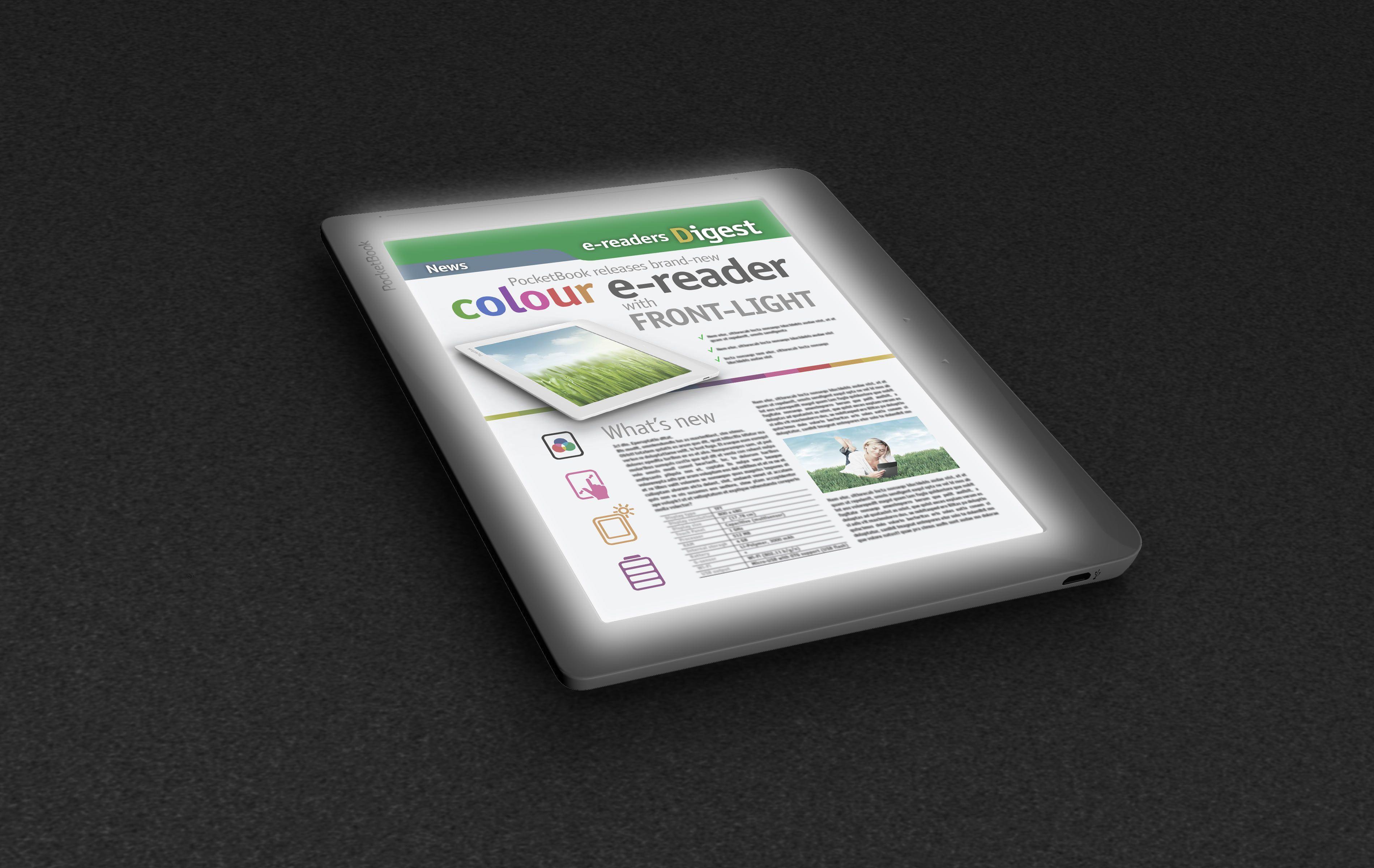 Pocketbook Announces Color E Reader With Front Light Pocket Book Readers Color