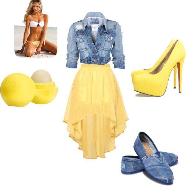 """yellow"" by carolinapinedaaa ❤ liked on Polyvore"