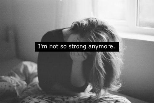 No soy tan fuerte más
