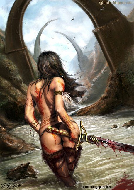 Erotic woman warrior fantasy art was
