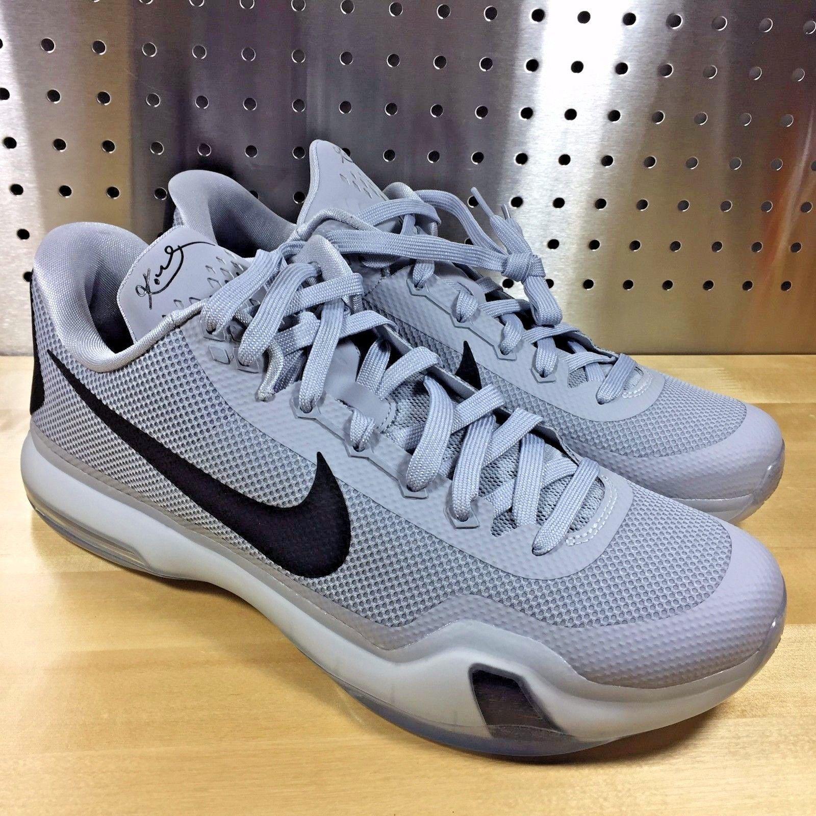 separation shoes 2abca f9cc1 reduced mens nike kobe x 10 tb elite basketball shoes 813030 011 size 12  grey 13294