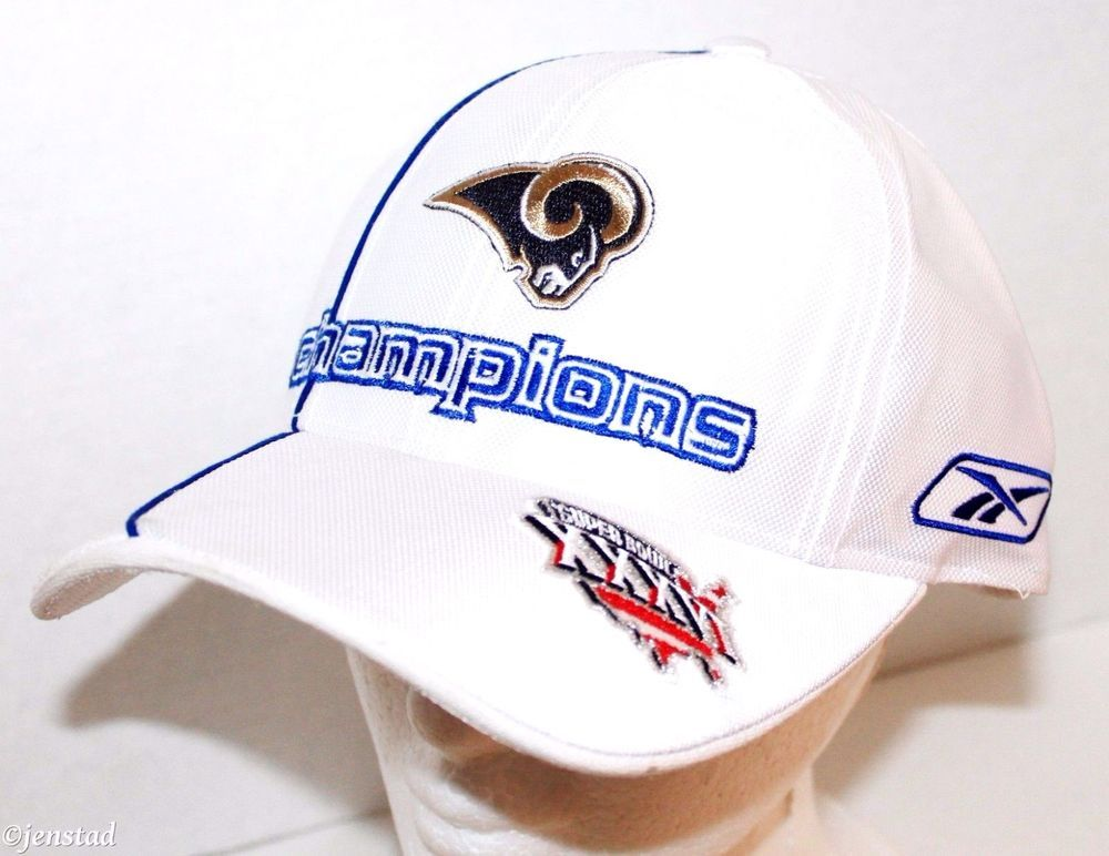 ST LOUIS RAMS REEBOK NFL NATIONAL FOOTBALL CONFERENCE CHAMPIONSHIP CAP HAT  2001… 8148678b8