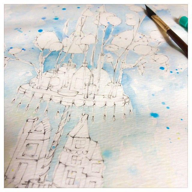 houses jars and trees oh my #creativegirlatwork