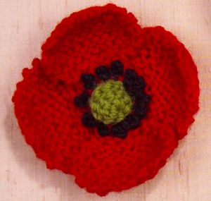 Knitting Pattern For Poppy Flowers : Free pattern   knit a poppy in November The Making Spot blog Crazy Crafte...