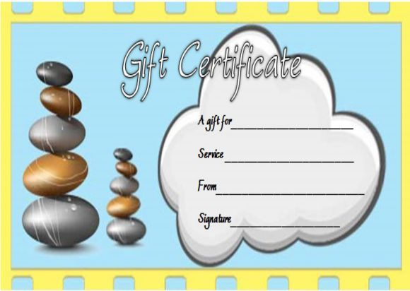 Massage Gift Certificate Template Free Printable  Spa Gift
