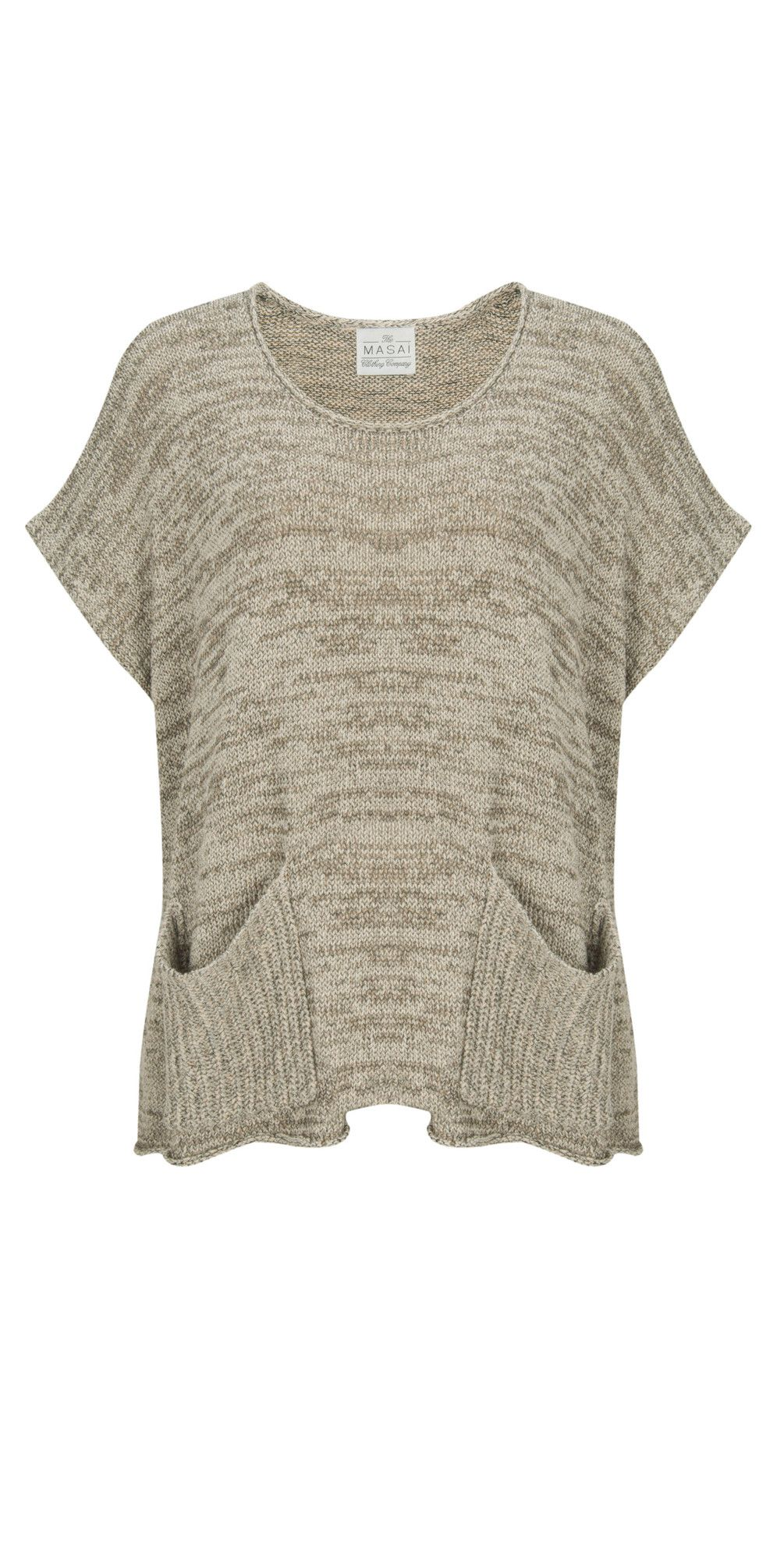 441 nougat Print Farinelli Knitted Top | Masai clothing