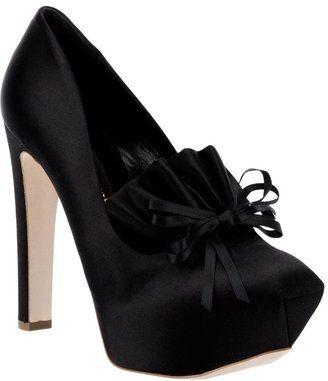 11d666e5f ShopStyle: Rupert Sanderson 'Favell' bow platform | Shoes, Shoes ...