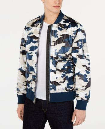 7585bff63 Guess Men's Camo Bomber Jacket - Blue XXL   Products in 2019   Camo ...