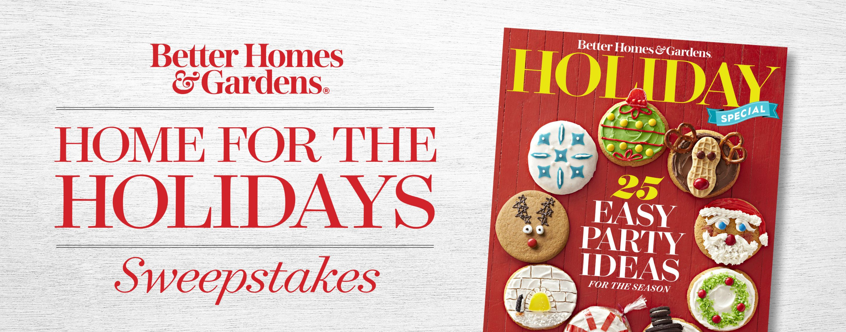 Bhg home for the holidays sweepstakes and giveaways