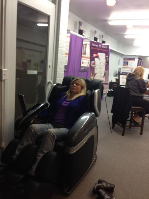 Enjoying Cyber Relax Mage Chair Spa Party Planet Beach Pasadena