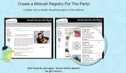 How to Create a Bar & Bat Mitzvah Cash Gift Registry