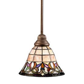 Find Portfolio Flora W Art Nouveau Bronze Mini Pendant Light with Tiffany- Style Glass Shade at Lowes offers a variety