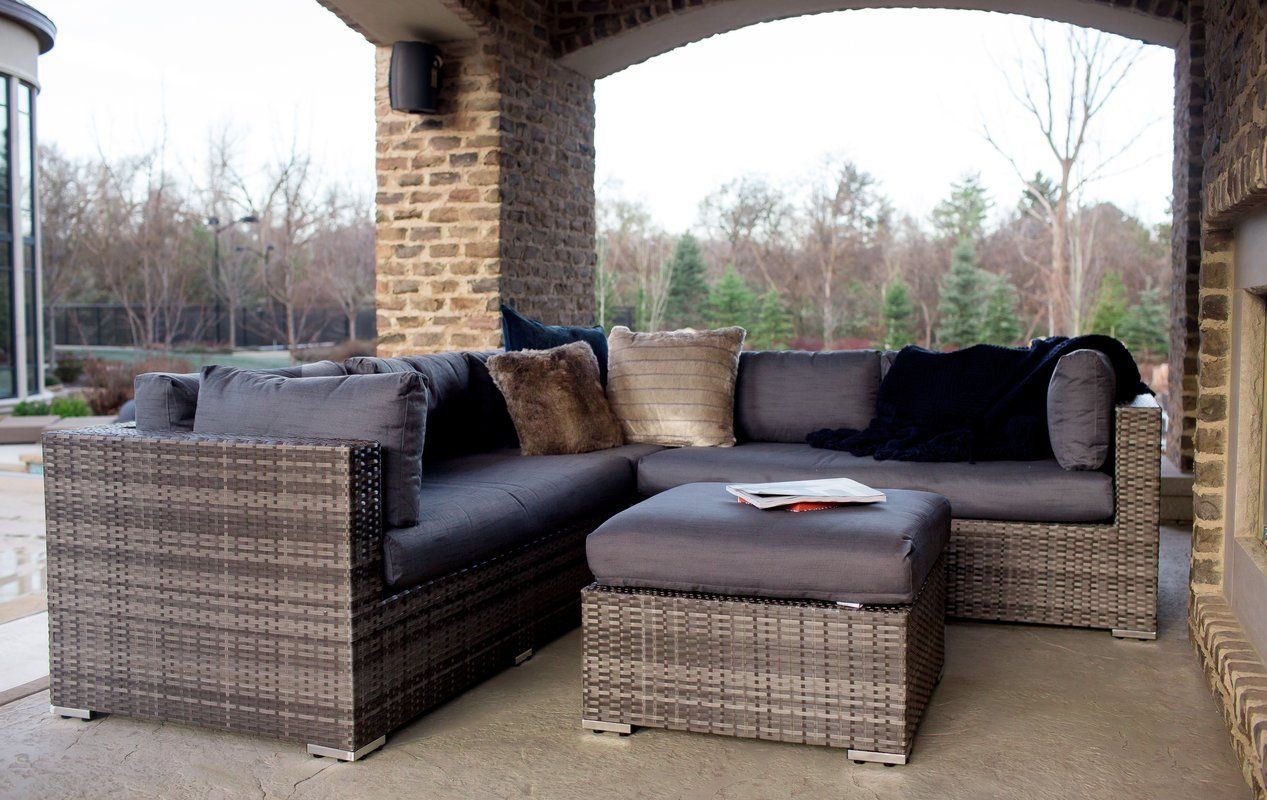 Evart 4 Piece Sectional Seating Group with Cushions