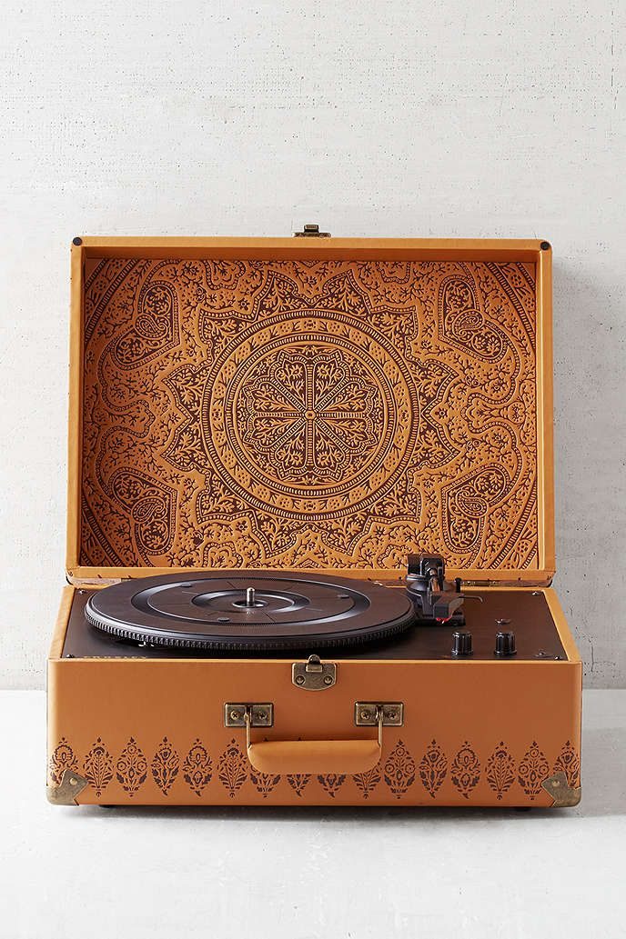 crosley x uo keepsake embossed portable usb vinyl record player awesome stuff spaces and. Black Bedroom Furniture Sets. Home Design Ideas