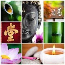 Papier Peint Bouddha Bambou Zen Papiers Peints Pinterest