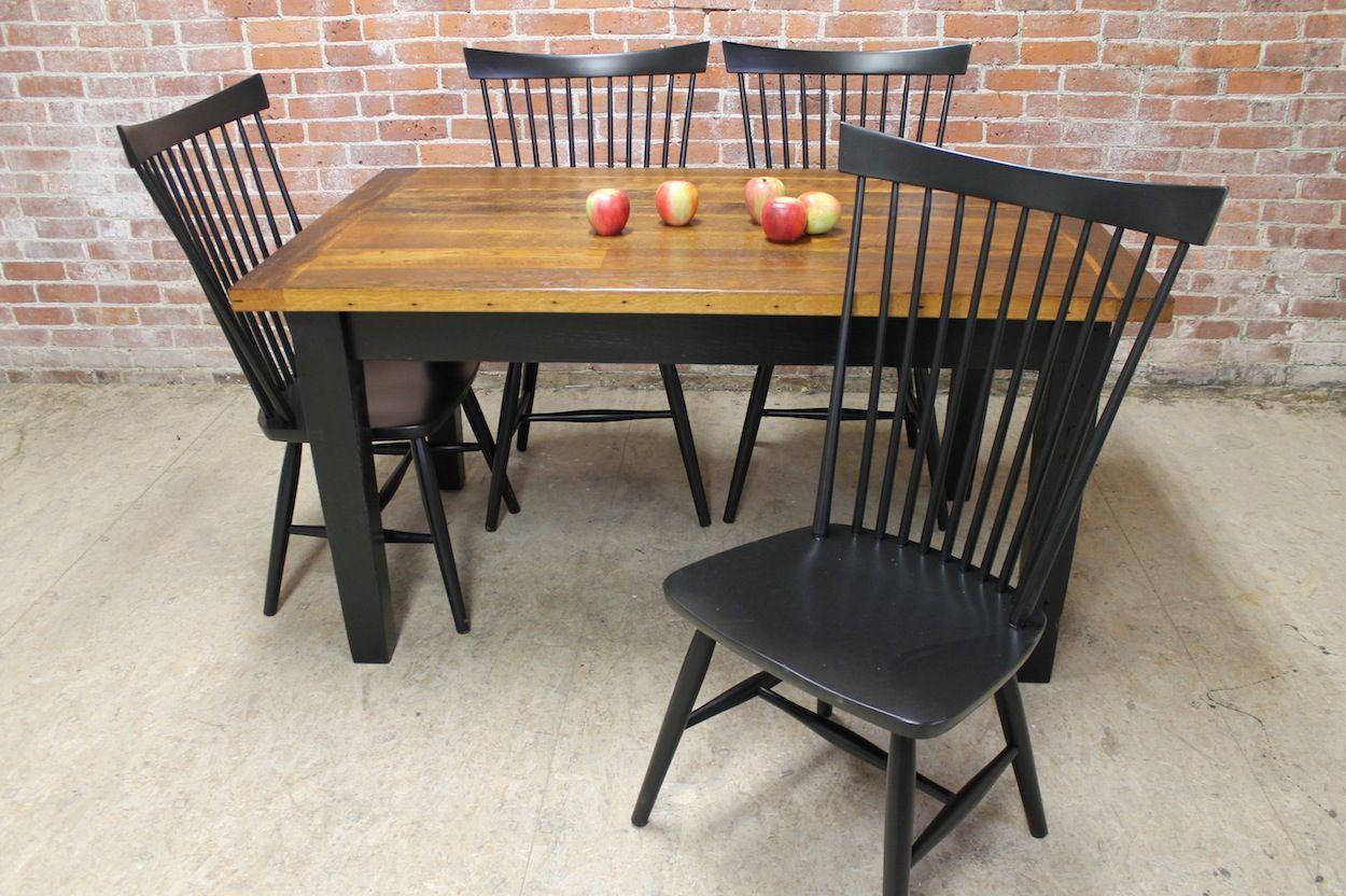 farm table butcher-block style | kitchen table wood, farm