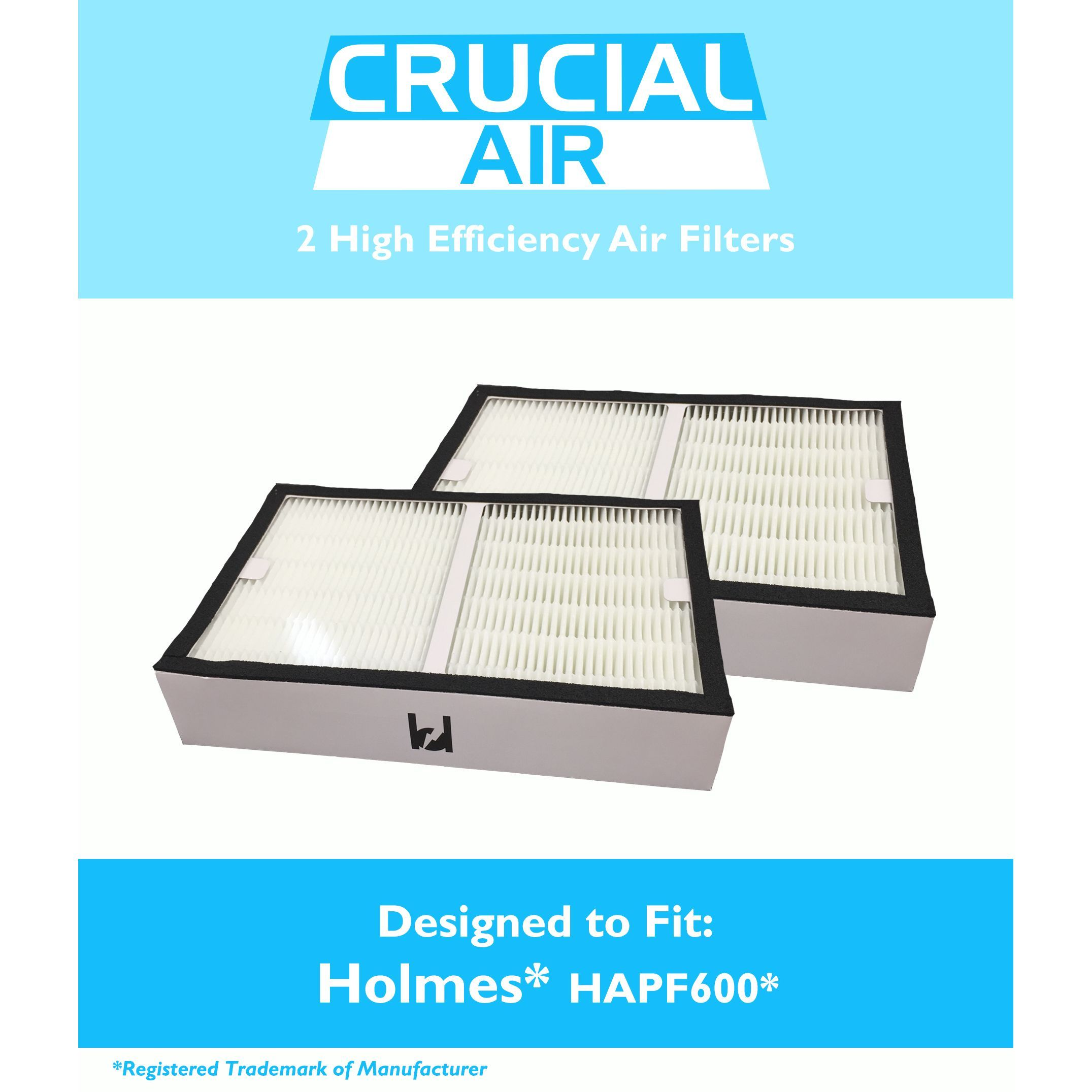 2pk Prefilter for Holmes /& Bionaire 2pk Hapf600 Replacement Hepa Filter B