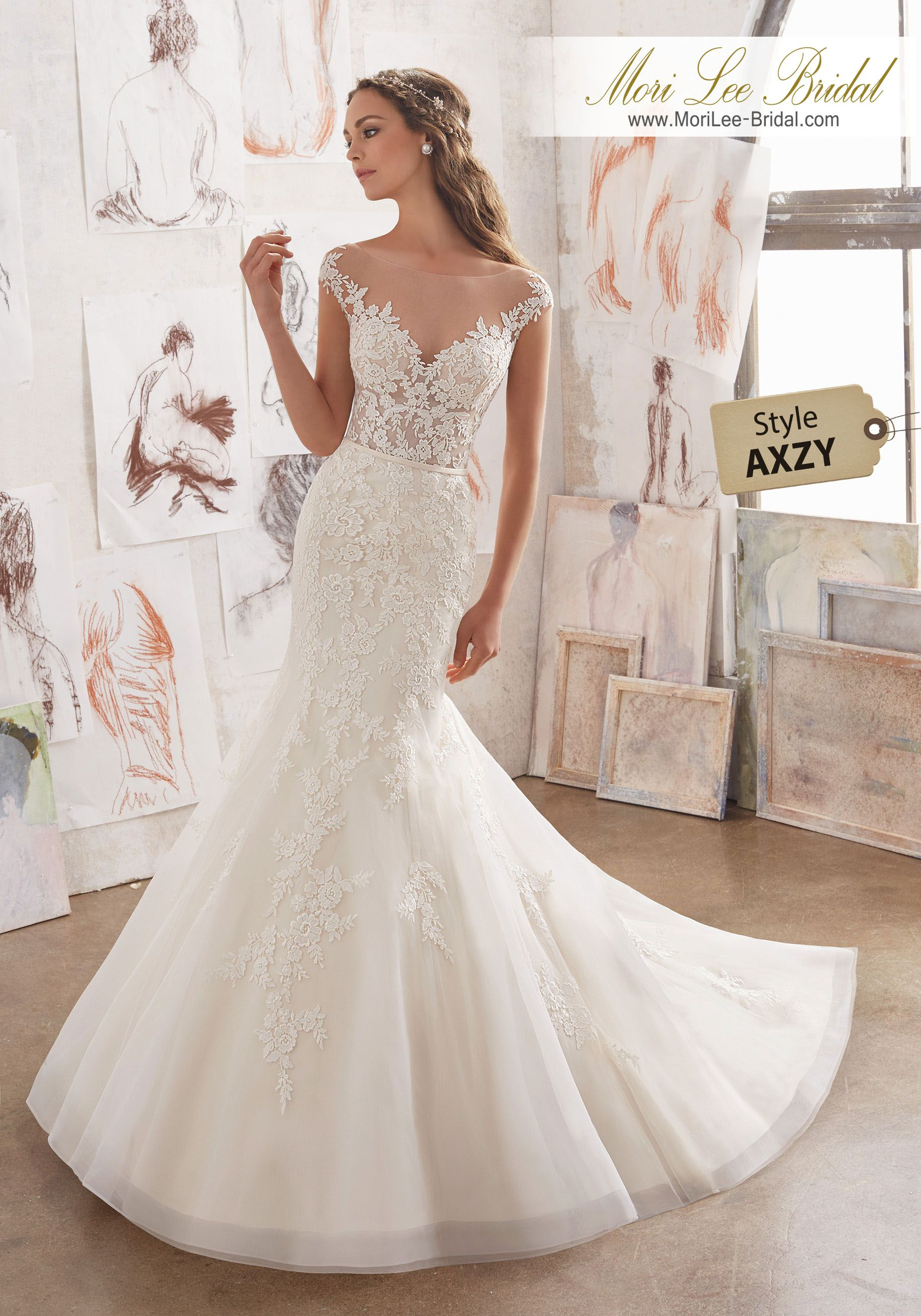 Style AXZY Martha Wedding Dress Gorgeous Fit & Flare Wedding Dress ...
