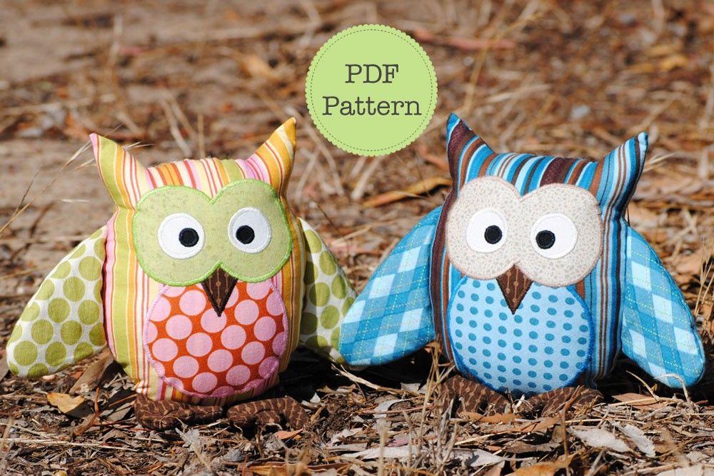 free pdf owl sewing pattern