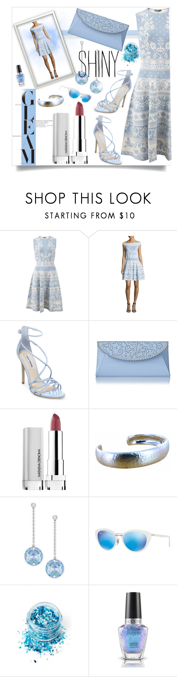 """""""Gleam and Shine"""" by loveroses123 ❤ liked on Polyvore featuring Alexander McQueen, Steve Madden, Swarovski, Ray-Ban and In Your Dreams"""