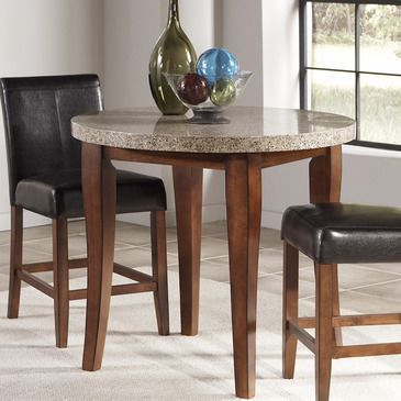 Like The Casual And Sturdy Dining Table, But Tall And Round. Perfect For 4