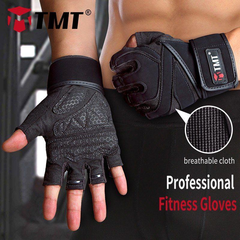 Gym Fitness Handschuhe Halbfinger Anti-Skid Crossfit Sport Gewichtheben