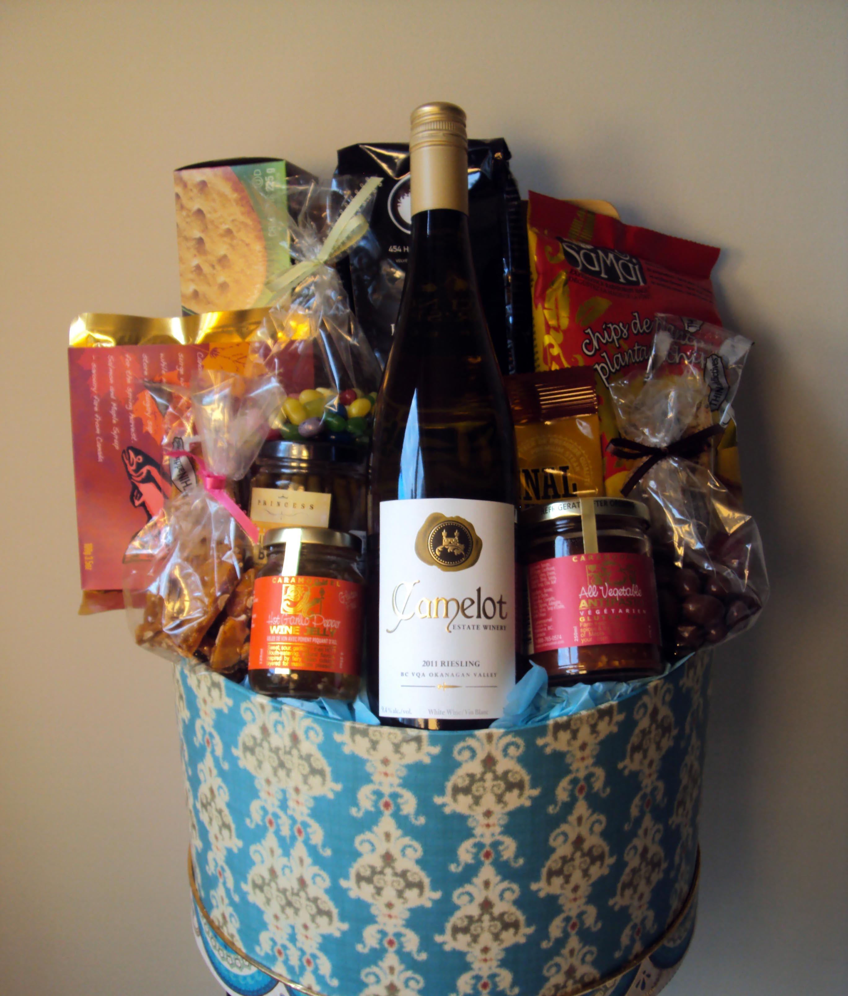 gluten free gift baskets with wine