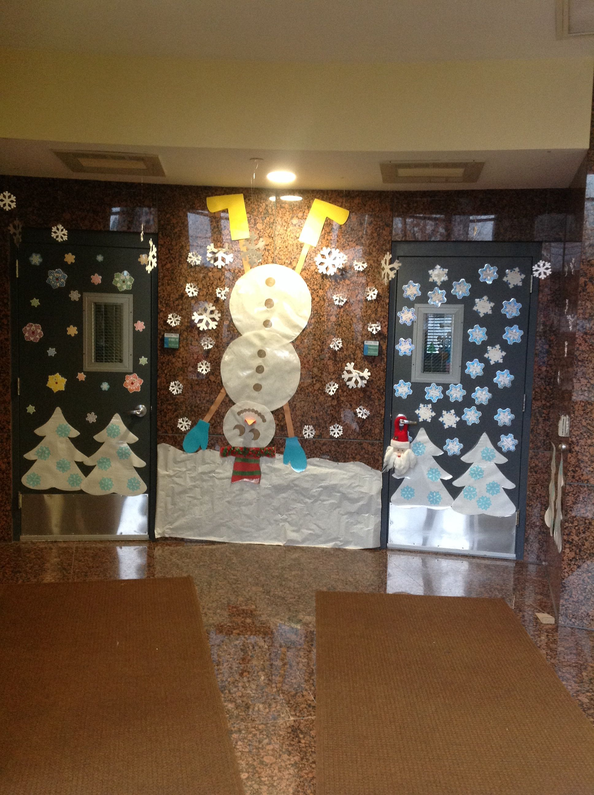 Our Pre K And Kindergarten Hallway Winter Display