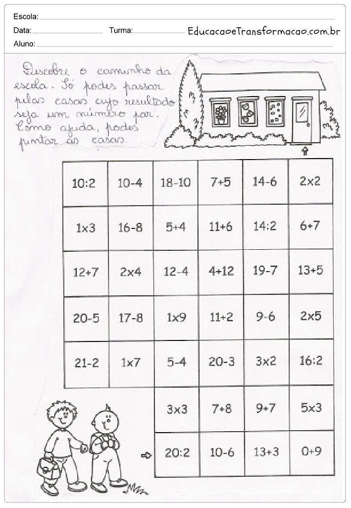 Pin Em Matematica 2 Ano Fundamental