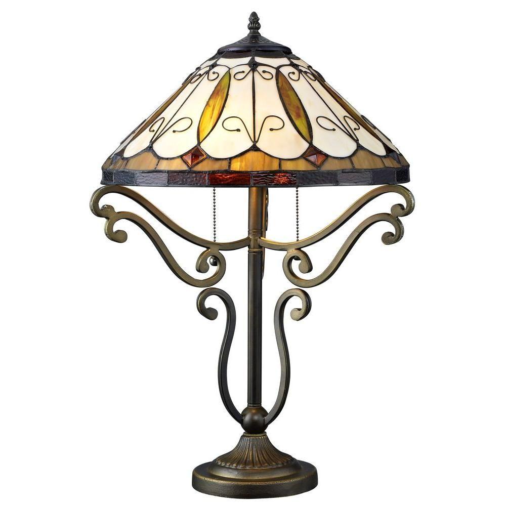 Serena Du0027italia Tiffany Arroyo Styled 24 In. Bronze Table Lamp