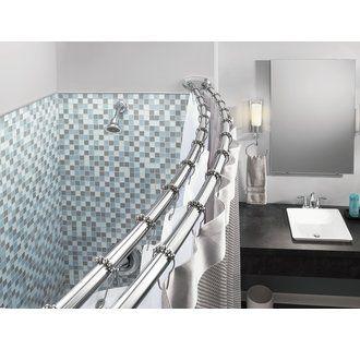 Moen Dn2141 Shower Rod Shower Rods Hotel Shower Curtain