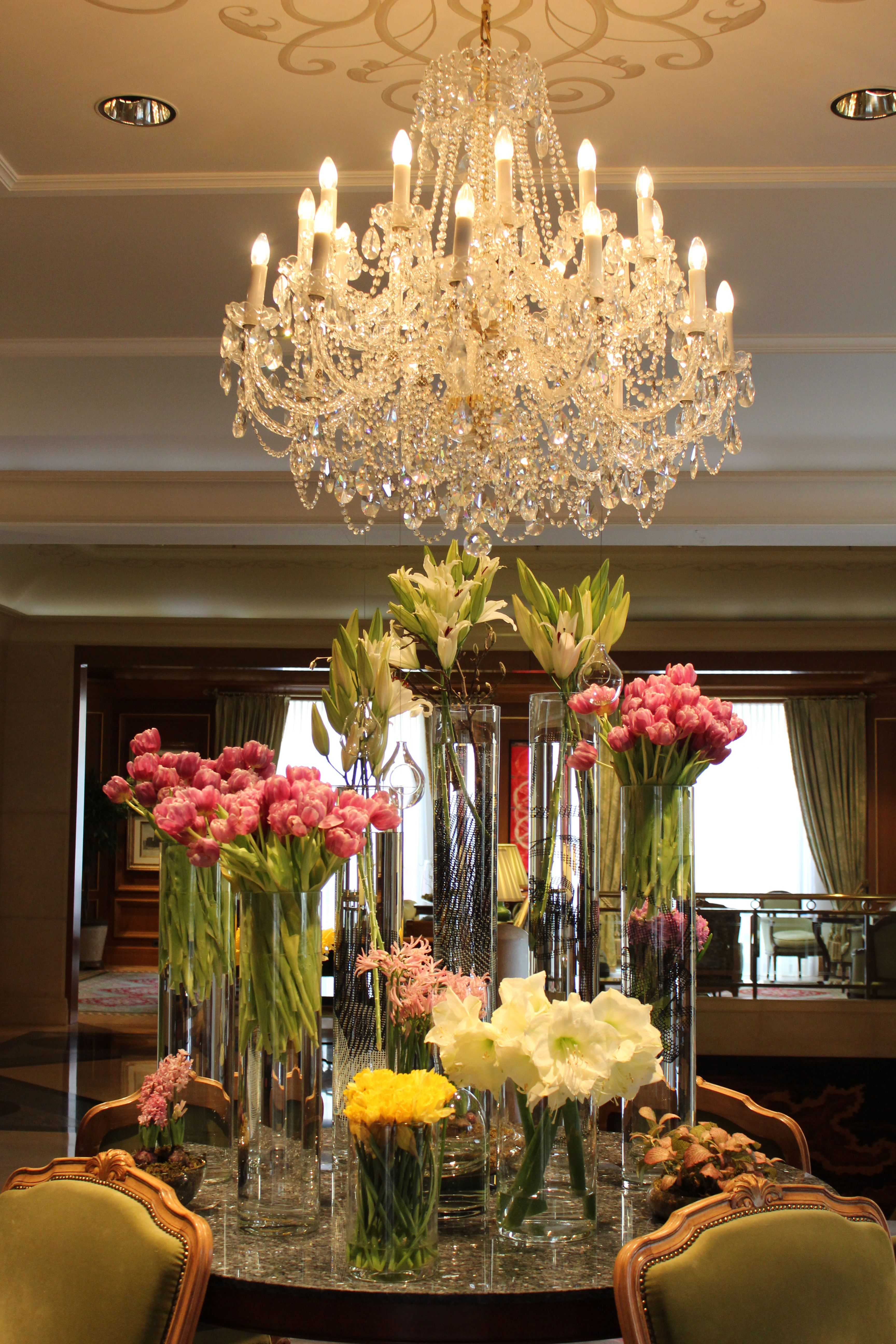 Our lobby flowers at their very best flourishing moment
