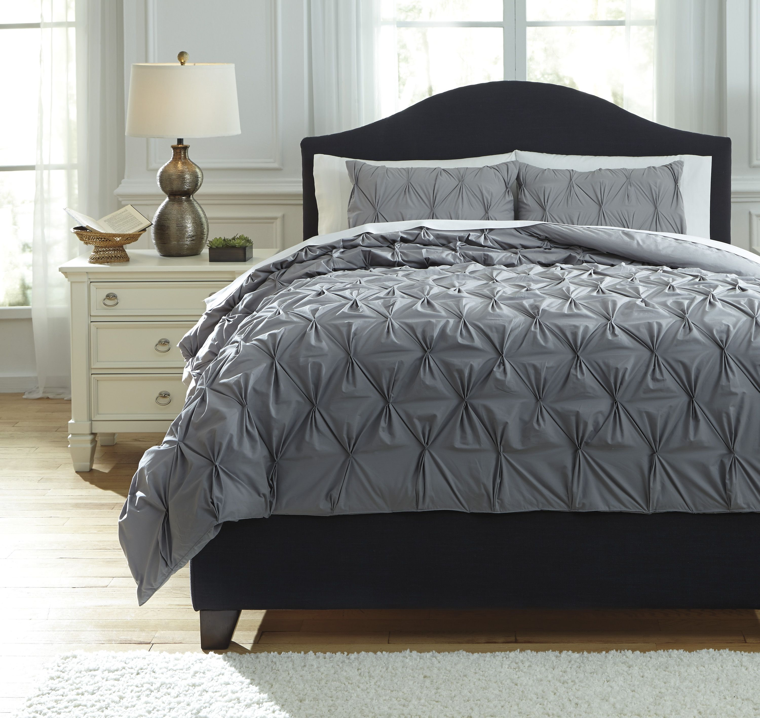 Best Ashley Furniture Rimy Gray Queen Comforter Set With 400 x 300