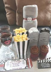 Scary Movie Date Night with Printables – great idea for a date night at home! Co…
