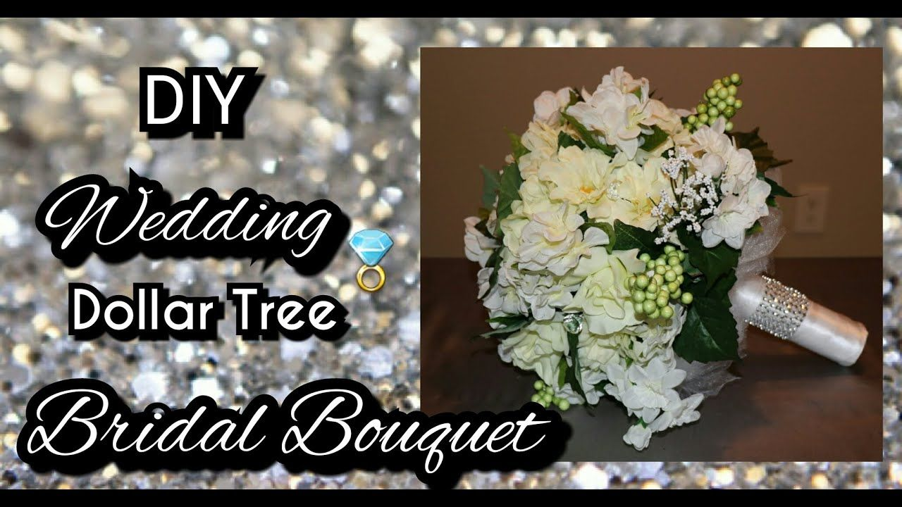 DIY DOLLAR TREE WEDDING BRIDAL BOUQUET