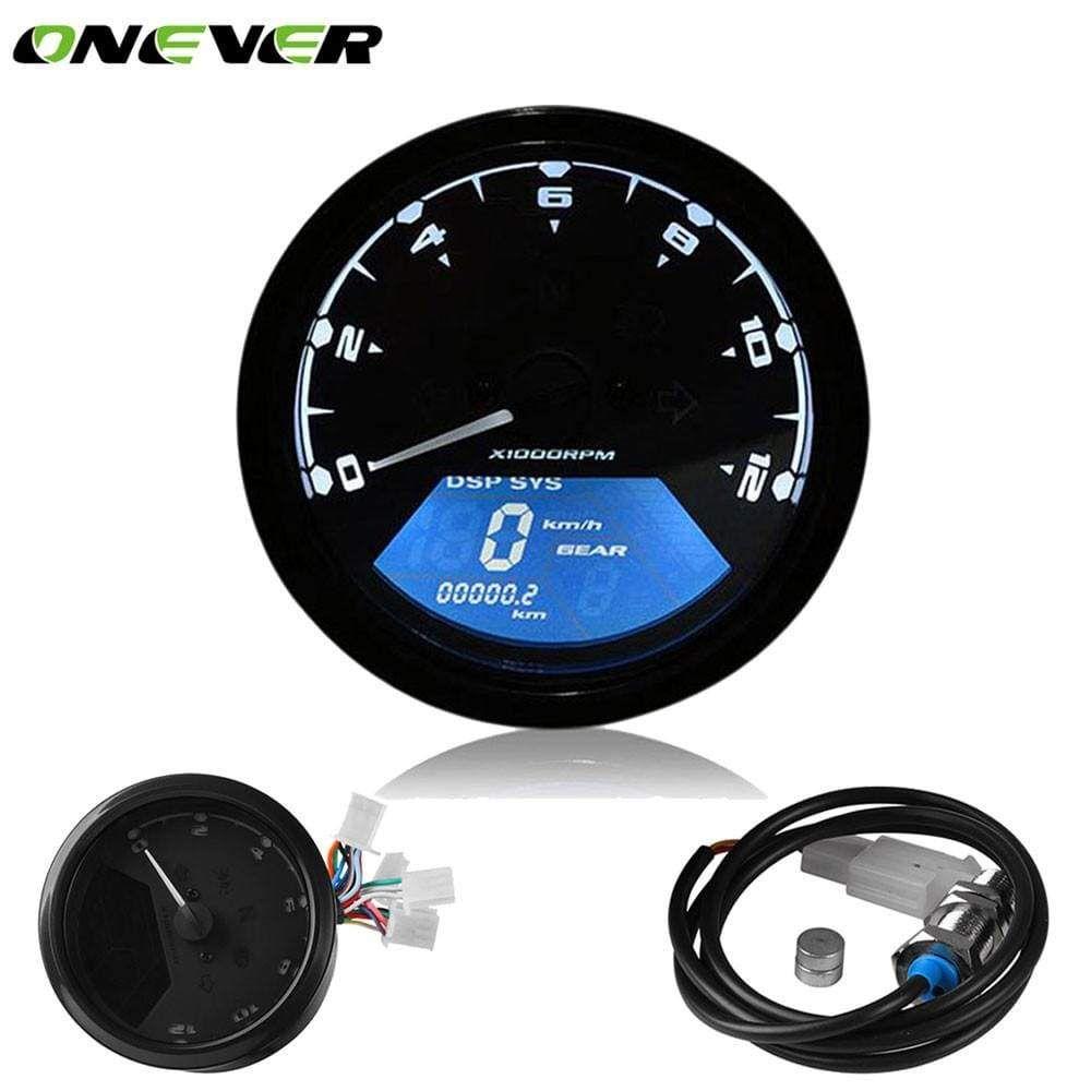 Digital Speedometer Lcd Backlight Odometer Tachometer