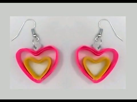 Heart Shape Quilling Earrings Making Tutorials Papers Earring You